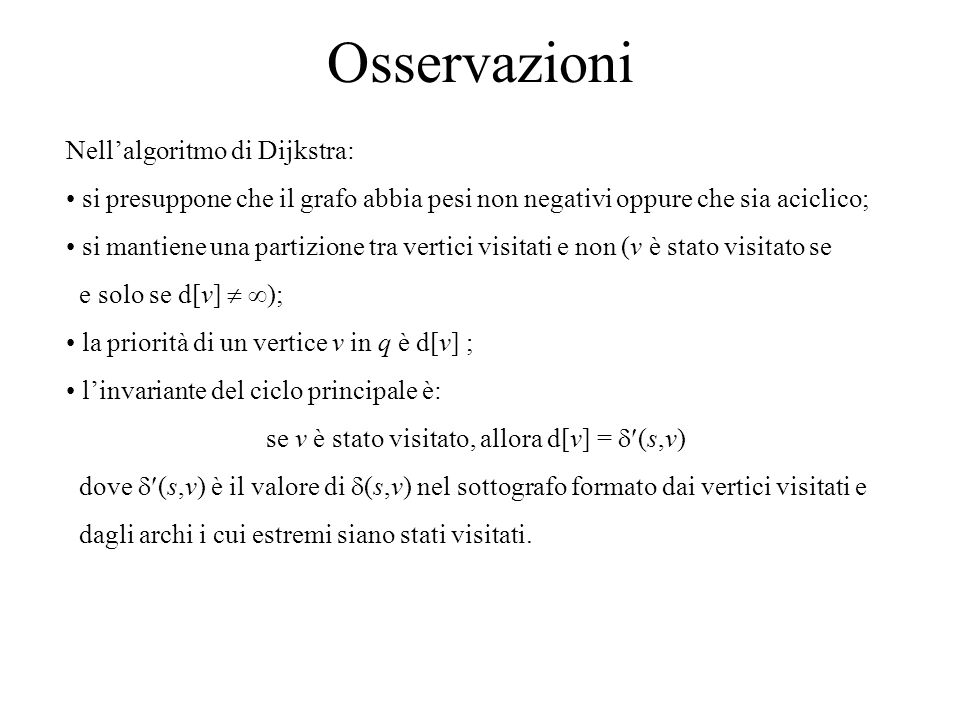 se v è stato visitato, allora d[v] = (s,v)